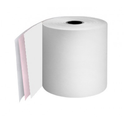 76mm 3 Ply Till Rolls White / Pink / White Boxed 20 - TR063