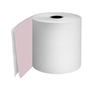 76mm 2 Ply Till Rolls White / Pink Boxed 20 - TR055