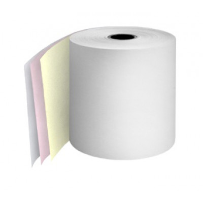 76mm 3 Ply Till Rolls White / Pink / Yellow Boxed 20 - TR064