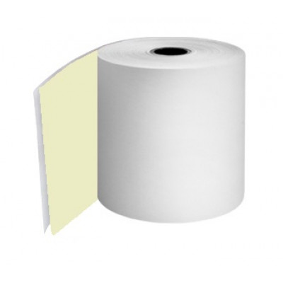 76mm 2 Ply Till Rolls White / Yellow Boxed 20 - TR056